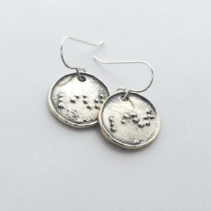 Light earrings chrome setting
