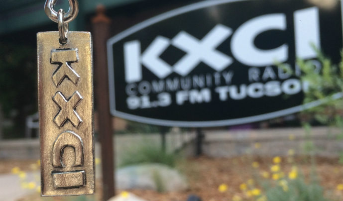 KXCI Radio Jewelry and Sign