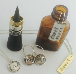 Braille Jewelry Collection on Bottles